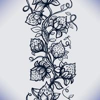 Vektor spets sömlös mönster