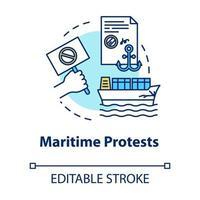 Symbol für maritimes Protestkonzept vektor