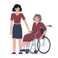 Welttag der Behinderten am dritten Dezember. vektor