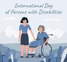 3. Dezember ist Welttag der Behinderten vektor