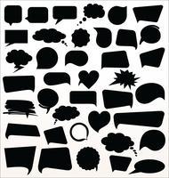 Schwarze Sprechblasen-Sammlung