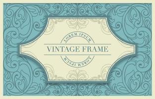 dekorativer Vintage-Rahmen vektor