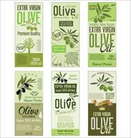 Olivenöl-Hintergrundsammlung der Retro- Weinlese goldene