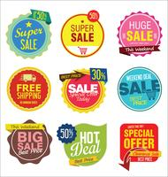 Moderna märken och etiketter