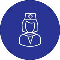 Vektor Ärztin Symbol