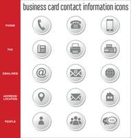 Visitenkartenkontaktinformations-Ikonensammlung vektor