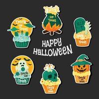 Happy Halloween Party Sticker vektor