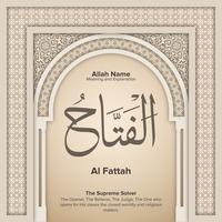 99 Namen Allahs mit Bedeutung und Erklärung vektor