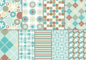 Türkis und Rost Vektor Muster und Wallpaper Pack