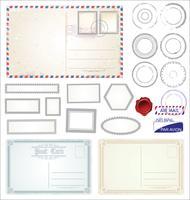 Postkarte Retro-Design