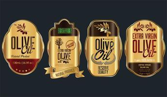 Retro vintage guld olivolja bakgrundsuppsamling vektor