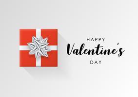 Valentinsdag vektor bakgrund. Färgglatt inslagna presentförpackning med band. Festlig vektor illustration.