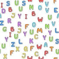 Vektor-Illustration. nahtloses Muster aus bunten englischen Buchstaben vektor