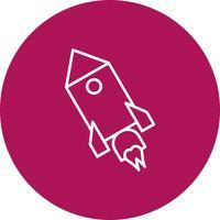 Vektor raket ikon