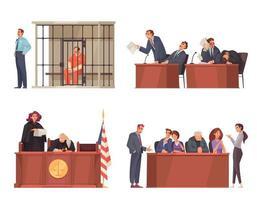 Gesetz Gerechtigkeit Kompositionen gesetzt vektor