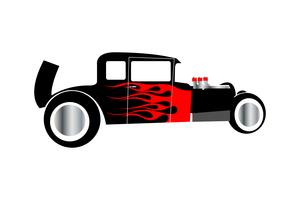 Hot Rod Auto vektor