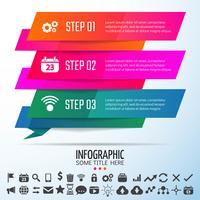 Geometrische Infografiken Designvorlage vektor