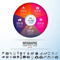 Kreis Infografiken Designvorlage vektor