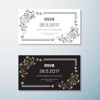 Hochzeits-Einladung Vintage Flyer Hintergrund Design-Vorlage