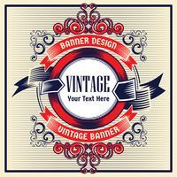 Vintage Hintergrund Label Stil Designvorlage