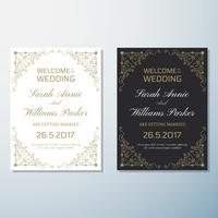 Bröllopsinbjudan Vintage flygblad bakgrund Design mall