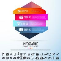 Geometrische Infografiken Designvorlage