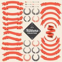 Ribbon Vintage Vector Logo för banner