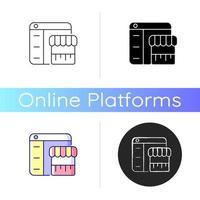 Symbol für den Online-Marktplatz vektor