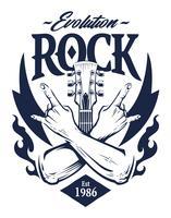 Rock Emblem Vektorgrafiken vektor