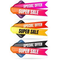 Verkauf Banner Designvorlage vektor