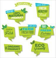 naturligt ekologiskt designemblem