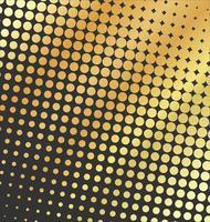 Auszug punktierter goldener Hintergrund-Halbtoneffekt des Vektors