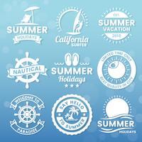 Sommer-Retro- Vektor-Logo für Fahne