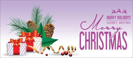 Jul bakgrund med dekorationer