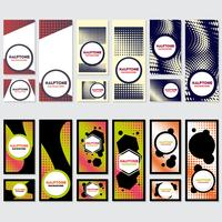 Vintage Halbton Stil Hintergrund Design-Vorlage