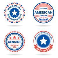 Amerika Vector etikett för banner