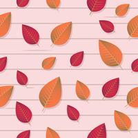Nahtlose Blätter Muster Vektor Hintergrund