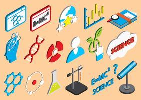 illustration av info grafik vetenskap ikoner uppsättning koncept
