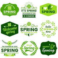 Frühling Etiketten