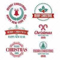 Weihnachtsvektorlogo für Fahne