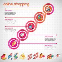 Illustration des eingestellten Konzeptes des grafischen Geschäfts der Informationen