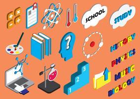 illustration av info grafisk utbildning ikoner uppsättning koncept