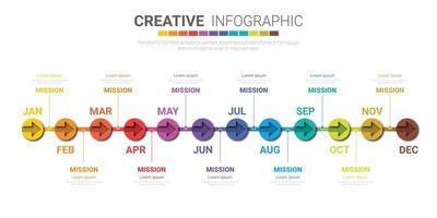 Infografiken den ganzen Monat Planer Design für Unternehmen vektor
