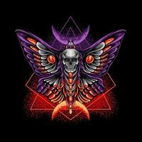 Schmetterling mit Totenkopf vektor