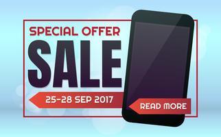 Telefon Verkauf Vektor Hintergrund