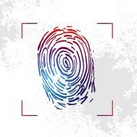 Hand gezeichnete Fingerabdruck-Illustration