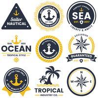 nautisk Retro Vector Logo för banner