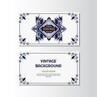 Vintage Flyer Hintergrund Designvorlage vektor