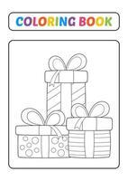Malbuch, Geschenkbox-Vektor vektor