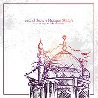 Handgezeichnete Moschee Sketch Illustration.